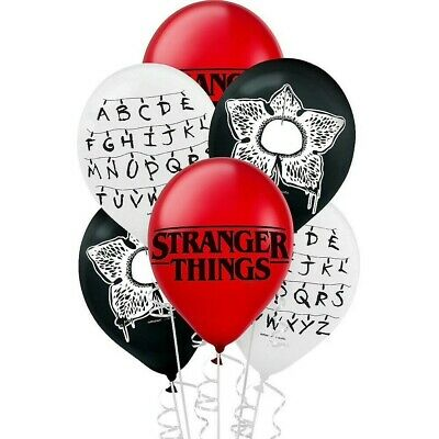AU9.99 • Buy Stranger Things Netflix Party Supplies Balloons Latex Pack Of 6