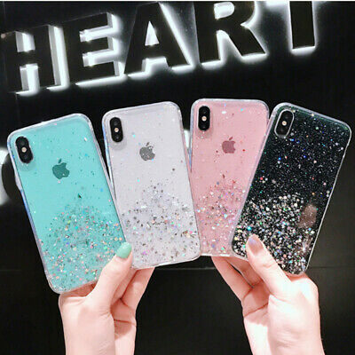 AU5.43 • Buy INS Epoxy Foil Gold Starry Sky Bling Glitter Star Case Cover For Various Phone