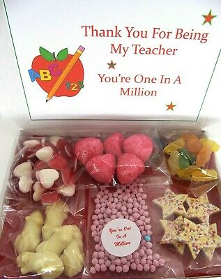 Thank You Teacher T A Personalised One In A Million Sweets Haribo Gift Box Nurse • 4.99£