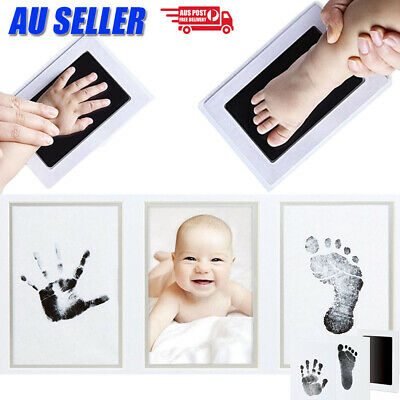 AU6.99 • Buy Baby Hand Foot Print Photo Frame Kit Pet Safe Inkless Wipe Newborn Souvenir Gift