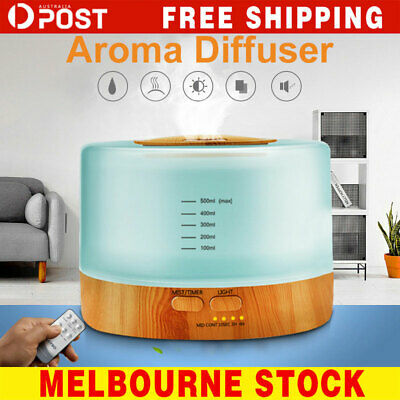 AU30.99 • Buy Ultrasonic 500 Ml Aroma Diffuser Aromatherapy LED Essential Oil Air Humidifier