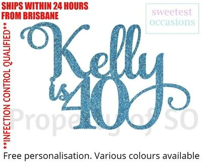 AU11 • Buy Personalised Custom 1st 2nd 3rd 4th Etc 21st 30th 40th Etc Birthday Cake Topper