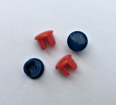 Tap Top Indices Buttons Red Blue 8mm  2 Pairs                                 L4 • 3.99£