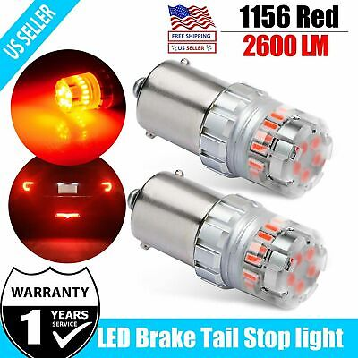 $10.99 • Buy 2x Brilliant Red 1156 BA15S 24-SMD LED Brake Stop Tail Lights Bulbs Replacement