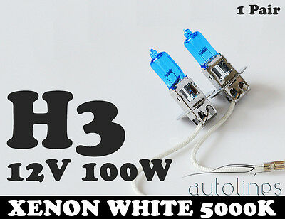 AU17.09 • Buy H3 12V 100W Xenon White 5000K Light Fog Car Headlight Lamp Globes Bulbs LED HID