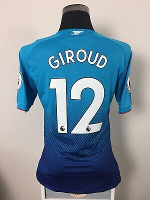 GIROUD #12 BNWT Arsenal ACTV Player Issue Away Shirt Jersey 2017/18 (XL) • 119.99£