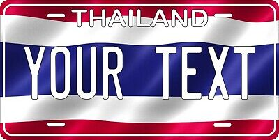 Thailand Flag License Plate Personalized Car Auto Bike Motorcycle Custom Tag • 12.09£