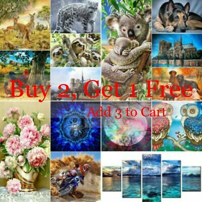AU16.35 • Buy 5D DIY Animals Full Drill Diamond Painting Kits Home Art Decors Christmas Gifts