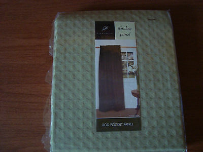 $16.19 • Buy * PARK SMITH Window Panel Rod Pocket Curtain 40x84  Solid Celadon Sage Green