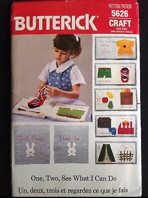 $7.33 • Buy Pattern Butterick 5626, Learning Book, Soft, Cloth Pages,