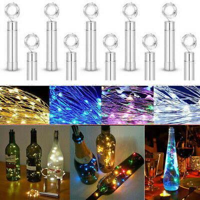 3-6pcs Battery Micro Rice Wire Copper LED String Fairy Bottle Lights Party Decor • 2.39£