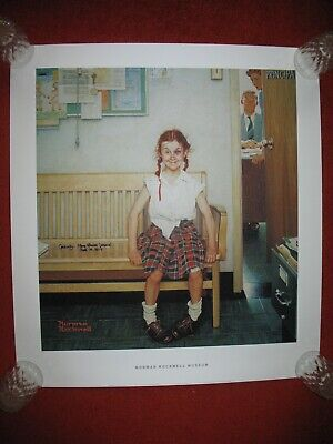 $ CDN399.95 • Buy SHINER GIRL WITH BLACK EYE NORMAN ROCKWELL SIGNED MODEL PRINT Lithograph Poster