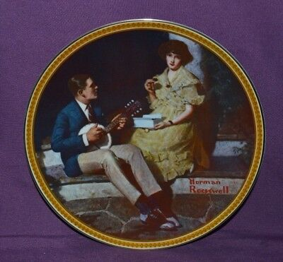 $ CDN15 • Buy  Plate By Norman Rockwell  Pondering On The Porch  Rockwell's Rediscover Women