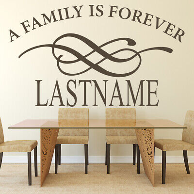 £16.99 • Buy Personalised Name A Family Is Forever Wall Sticker WS-17353