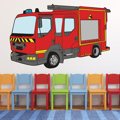 £16.79 • Buy Red Fire Engine Emergency Vehicle Wall Decal Sticker WS-46958