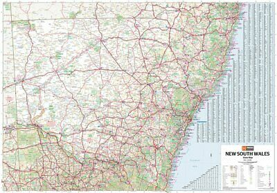 AU49.90 • Buy (laminated) New South Wales State Map Poster (70x100cm) Nsw Large Road Guide