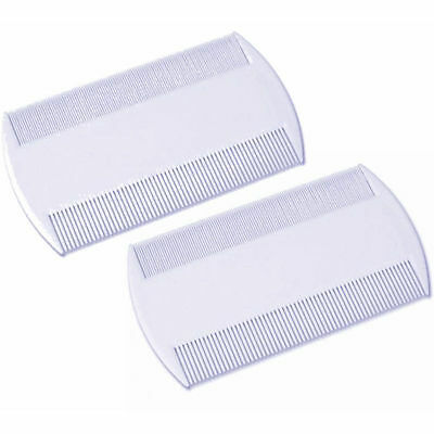 2 Pieces White Double Sided Nit Combs For Head Lice Detection  • 1.19£