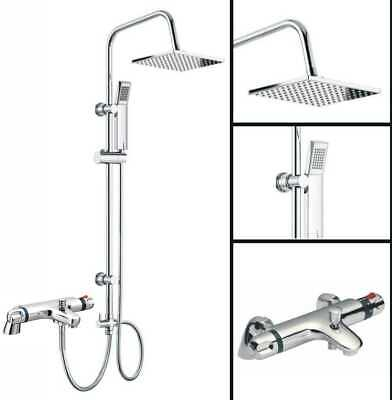 £89.95 • Buy Modern Thermostatic Bath Shower Mixer Taps Deck Mounted Chrome Bathroom And Kit