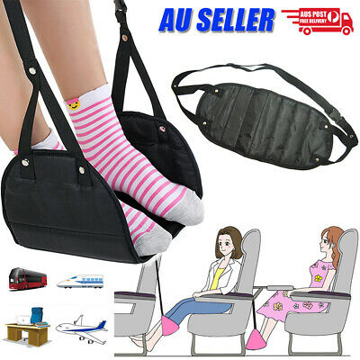 AU8.98 • Buy Travel Foot Rest Footrest Leg Pillow Airplane Flight Foam Cushion Sling Hammock