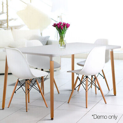 AU153.79 • Buy Artiss Dining Table 6 Seater Replica DSW Eiffel Cafe Kitchen White 120cm