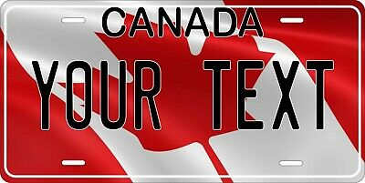 Canada Flag Wave License Plate Personalized Car Bike Motorcycle Custom Tag • 12.09£