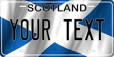 Scotland Flag Wave License Plate Personalized Car Bike Motorcycle Custom Tag • 12.09£