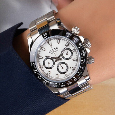 $ CDN72.55 • Buy Luxury 39mm BLIGER Luminous Mechanical Automatic Men's Watch Steel Bracelet Date