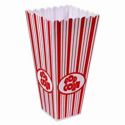 Plastic Popcorn Snack Bucket Tub Holder 1-12 Home Movie Film Nibbles Cup • 4.99£
