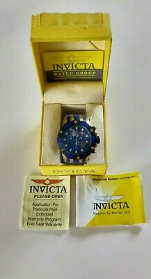 View Details Invicta Men Reserve 0914 Rare Blue Swiss Ss Watch Worn Only Couple Times • 80.00£