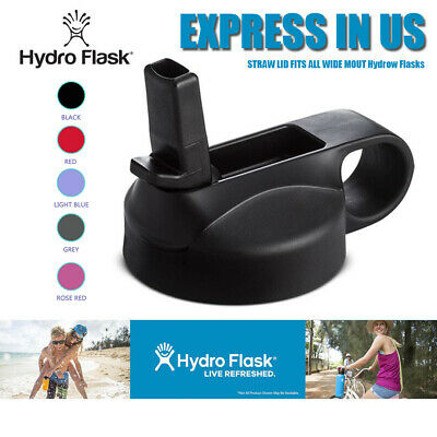 For HYDRO FLASK Straw Lid Cap Wide Mouth Water Bottle For 12 16 18 20 32 40 64oz • 4.68$