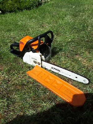 """View Details Stihl MS 180 PETROL CHAINSAW 14"""" Blade Lightly Used • 64.00£"""