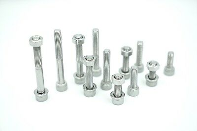 AU16 • Buy 10pcs M8 25mm Allen Bolts, Nuts And Washers In Stainless Steel G304