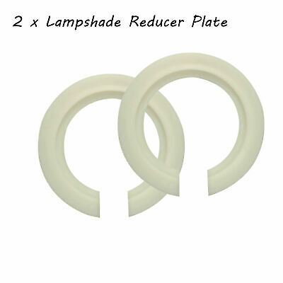 2 X Lamp Shade Adapter Reducer Plate Washer Ring Made From Metal Black / White • 3.20£