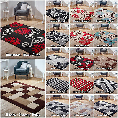£14.99 • Buy Low Price Geometric Rug Large Modern Floral High Quality Rugs Soft Area Sale Rug