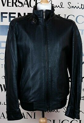A.w. Dunmoore London Mens Black Leather College Jacket • 70£