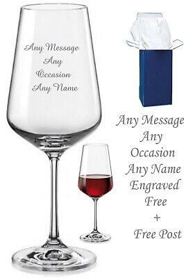 £9.98 • Buy Personalised Engraved Crystal Wine Glass, Birthday Gift 18th 21st 30th 40th 50th