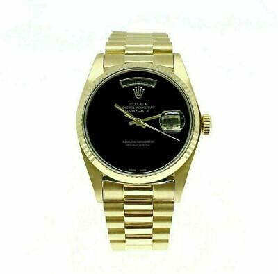 $ CDN16982.50 • Buy Rolex Day Date 18K President 36mm Watch 18038 Vintage 1980's With Onyx Dial