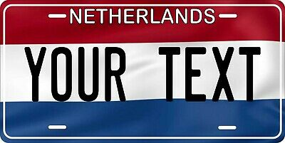 Netherlands Flag License Plate Personalized Car Auto Bike Motorcycle Custom Tag • 12.09£