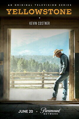 AU14.07 • Buy 004 Yellowstone - Season 1 2 Kevin Costner USA TV Show 24 X36  Poster