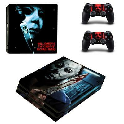 AU18.78 • Buy PS4 Pro Console Decals Skin Michael Myers Halloween Horror Vinyl Skins Stickers