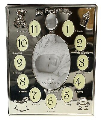 £11.99 • Buy Baby My First Year Photo Frame 12 Months Pictures Birthday Christening Gift Idea