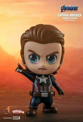 $ CDN37.97 • Buy Avengers 4: Endgame - Captain America Unmasked Cosbaby-HOTCOSB555-HOT TOYS