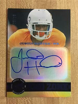 $9.99 • Buy JUSTIN HUNTER - 2013 Press Pass Showcase - End Zone Autographs Blue- S/N 05/25