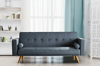 £184.99 • Buy Stylish Linen Fabric Upholstered Clic Clac Sofa Bed 3 Seater Reclining Settee