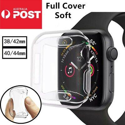 AU6.99 • Buy Apple Watch Series SE 65432 TPU Screen Protector Cover Case IWatch 38/42/40/44mm