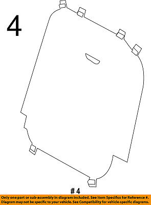 $69.19 • Buy FORD OEM 11-16 Explorer Third Row Seat-Seat Back Panel Right BB5Z7860508A