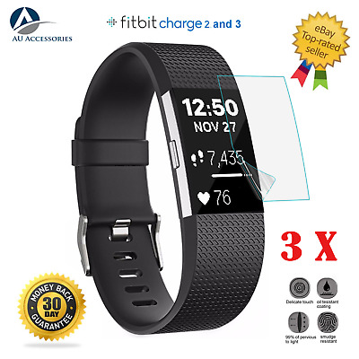AU9.99 • Buy 3x For Fitbit Charge 2 And 3 Compact TPU Hardness LCD Screen Protector Real Film