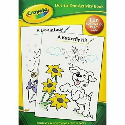 Crayola Dot To Dot Coloring Activity Book Kids Drawing Fun Colouring Book For Ki • 2.89£