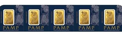 $ CDN750 • Buy 5 * 1 Gram Gold Bars - PAMP SUISSE With Certificate