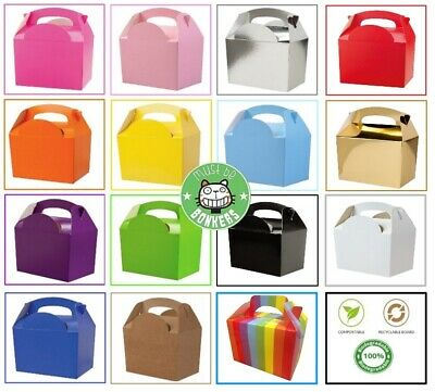 £4.19 • Buy 10 Childrens Kids Party Lunch Colour Boxes Birthday Wedding Meal Food Loot Bag